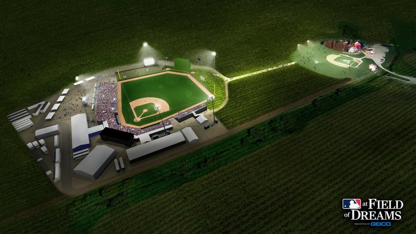 They're building it and people will come to Iowa to watch a Major League Baseball regular-season game for the first time. The newly constructed field will be beyond the cornfields of the original field setting of the 1989 movie and will have windows in the right-field fence in order to maintain the vision of the cornfields for the audience.