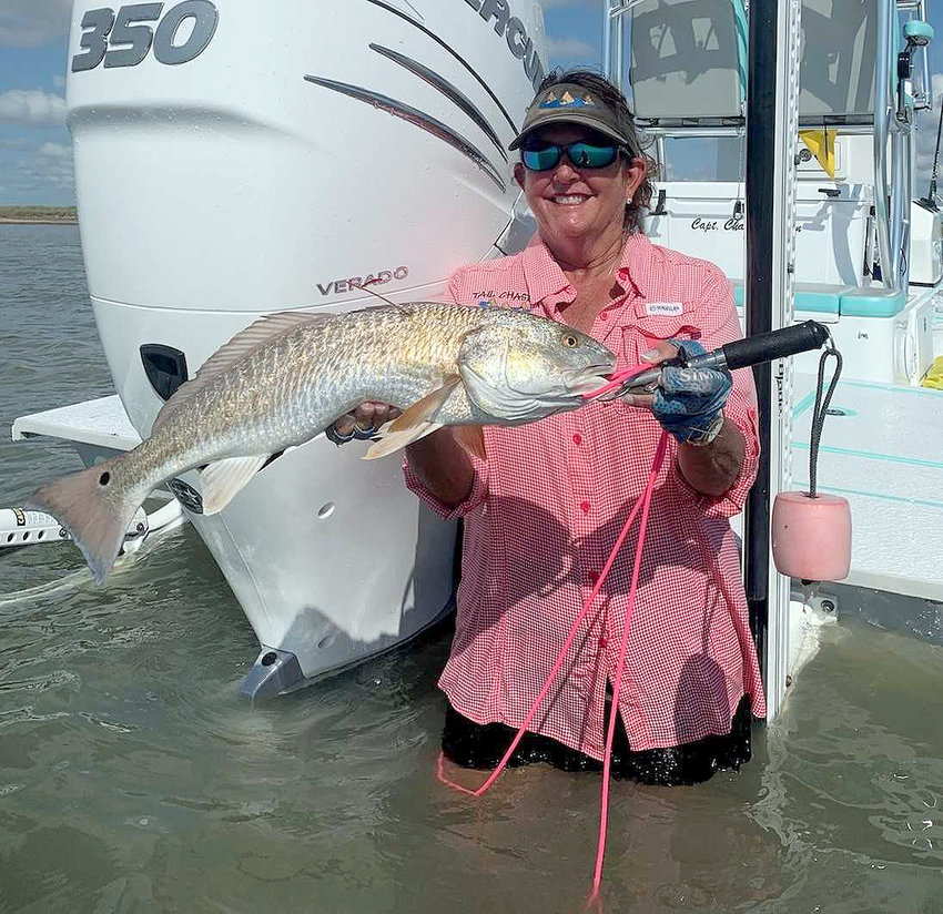 Carrie Buchen caught a prized tagged redfish in the STAR tournament, but she was a year late. Its tag was for the 2018 tournament, and ineligible for the current tournament. She used it, however, to win the woman's division of the 2019 TIFT tournament. The fish must have been a slow learner to have been caught three times within a year.