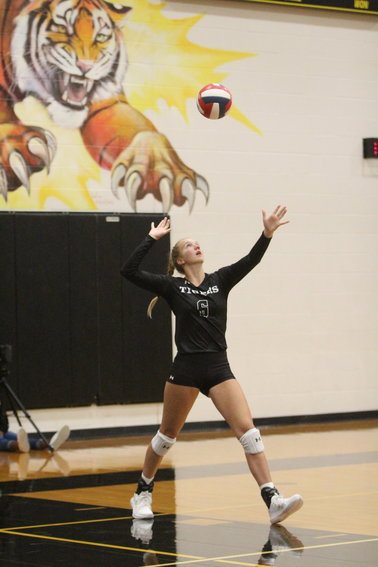 Breanna Brandes made her sophomore season debut after missing the opening part of the season due to a back injury. Last year's setter of the year in District 25-4A will factor into a big part of the Lady Tigers' season yet again once she's fully healthy, Coach Kim Boyd said.