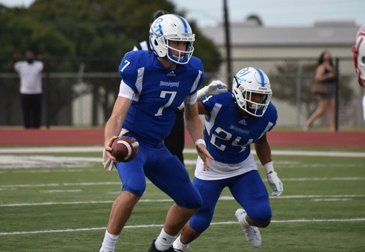 Brock Landis and Devin McAdoo accounted for 89 of Blinn's rushing yards in the season-opening, 62-7 win over Texas A&T.