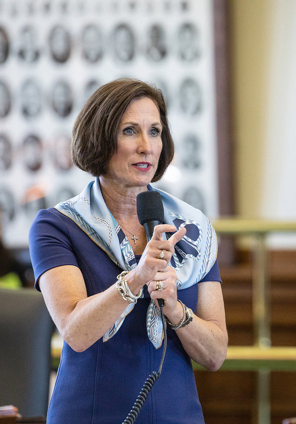 State Sen. Lois Kolkhorst, pictured here at work in the Capitol, will be the keynote speaker at the Sealy Chamber of Commerce's Governmental Luncheon on Sept. 11.