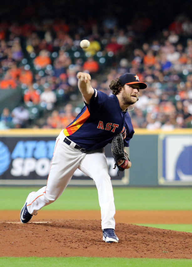 Gerrit Cole struck out his 300th batter on the 2019 campaign in the series finale against the Texas Rangers Wednesday night, becoming only the third Astros pitcher to accomplish the feat and first since 1986.