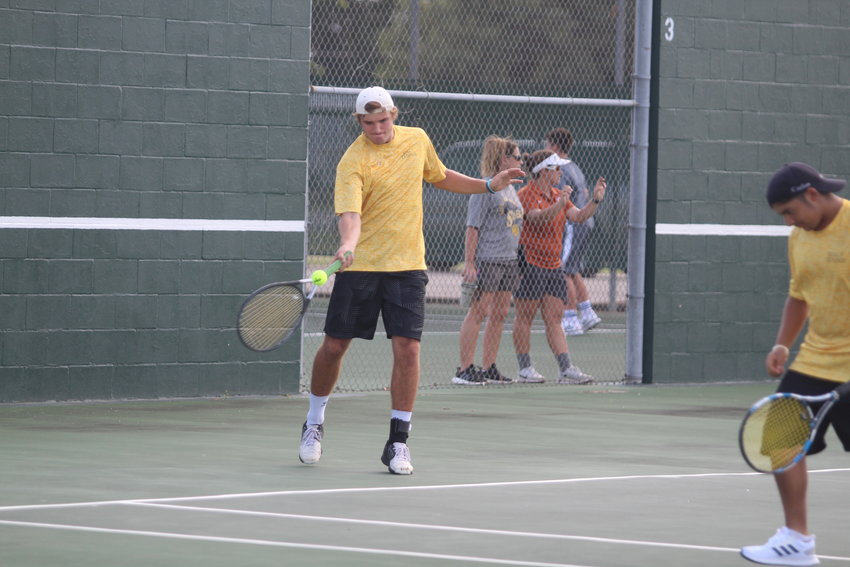 J.T. Rassette registered wins in both his singles' and doubles' matchups in the contest against Needville although the Tigers still fell by an 11-8 final score.
