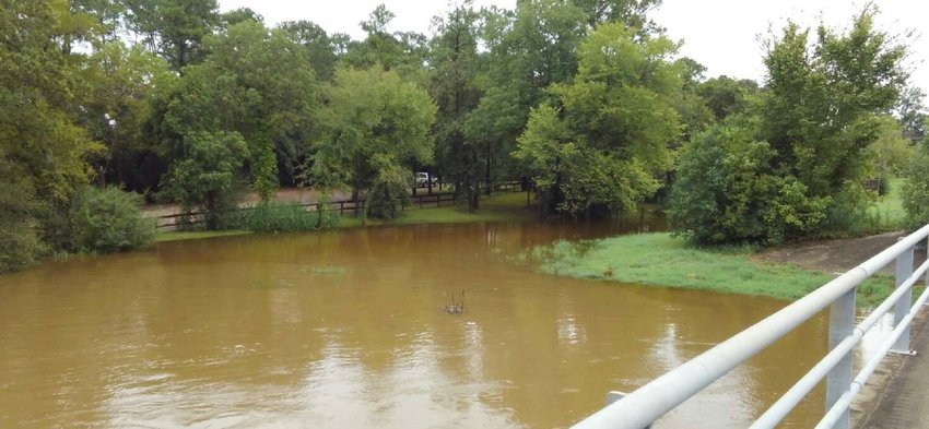 Clear Creek at FM 2351 was slightly over banks earlier this afternoon and with additional heavy rainfall, could overflow.