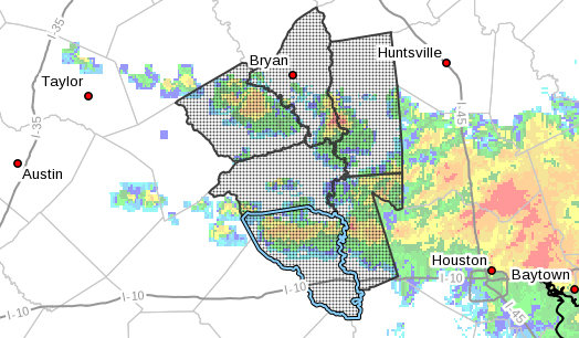 A flash flood watch has been issued for Austin County today.