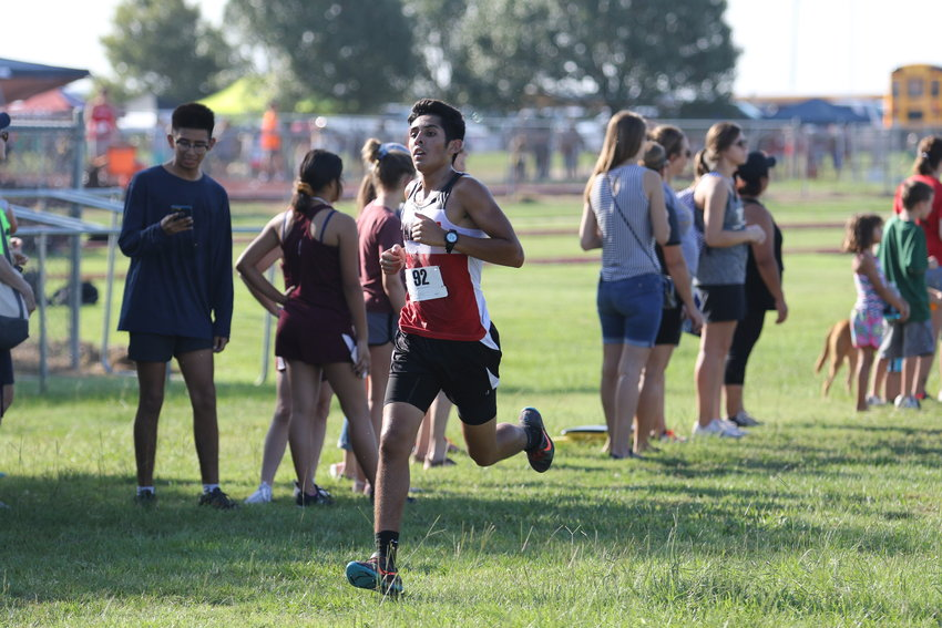 Zachary Cortez provided a fourth-place finish in the varsity boys' race to help his Cougar teammates grab a similar finish in the team race for the penultimate regular season race last weekend in Weimar.