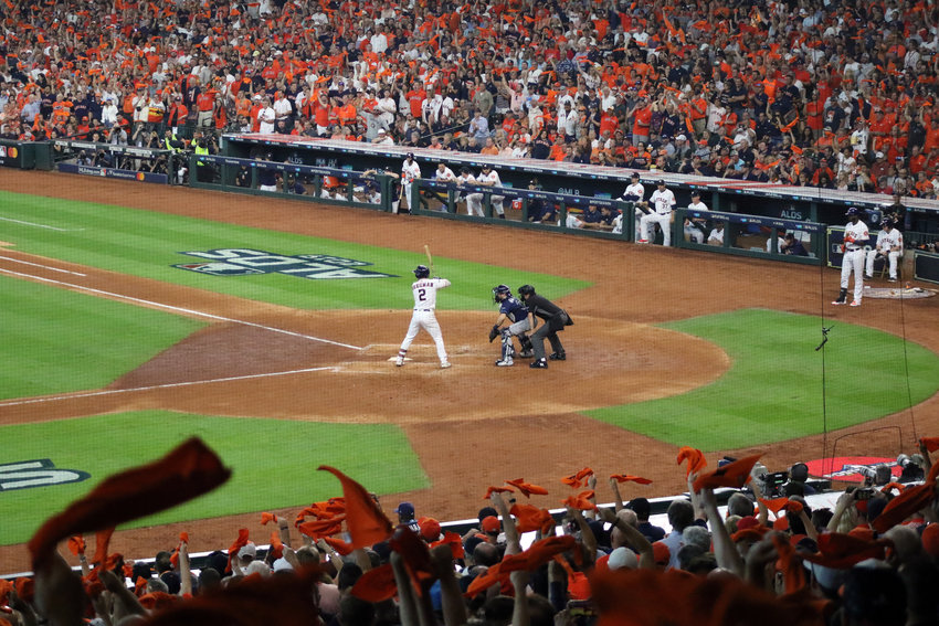 Alex Bregman brought fans to their feet with his 4th-inning home run to break a scoreless tie against the Tampa Bay Rays in Game 2 of the ALDS Saturday night at Minute Maid Park.