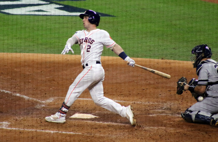 Alex Bregman finished 0 for 2 with a walk and mentioned Yankees' starter Masahiro Tanaka showed off his variety of quality pitches to keep Astros batters off-balance in Game 1 of the ALCS at Minute Maid Park Saturday night.