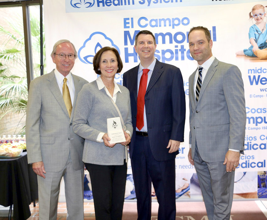 Pictured from the left are Don McBeath, director of government relations for TORCH; Sen. Lois Kolkhorst; El Campo Memorial Hospital CEO Nathan Tudor; and John Henderson, CEO of TORCH.