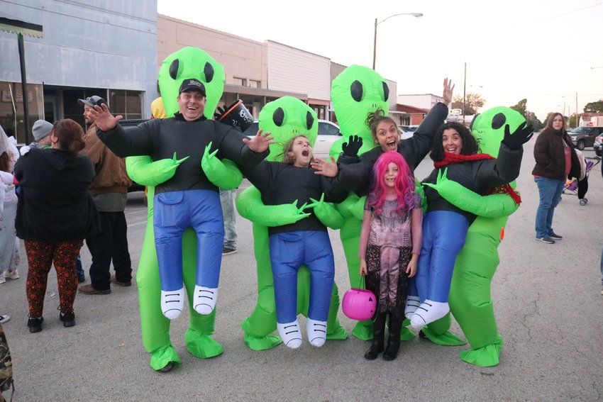 An alien abduction takes place Thursday evening during Boo Bash in downtown Sealy.