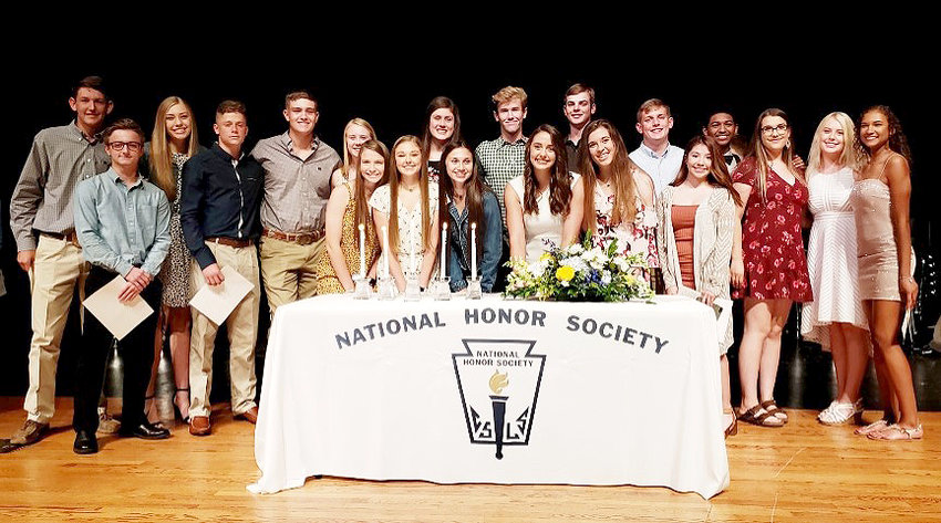 Sealy High School recently inducted 49 new members into the National Honor Society.