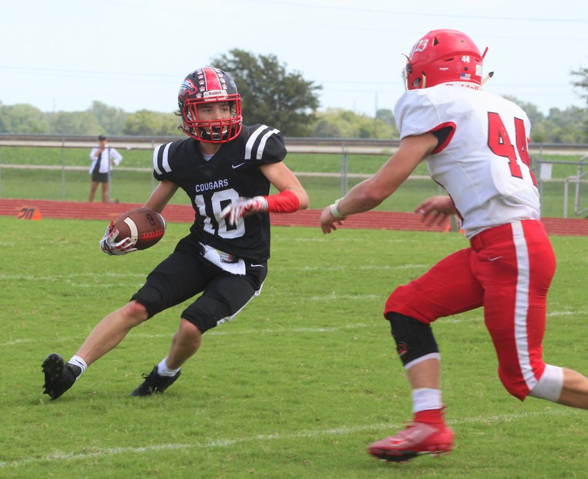 Chance Gurecky was a force to be reckoned with whenever he got the ball in his hands, just as he did on this carry against St. John Prep XXIII in week four of the regular season.