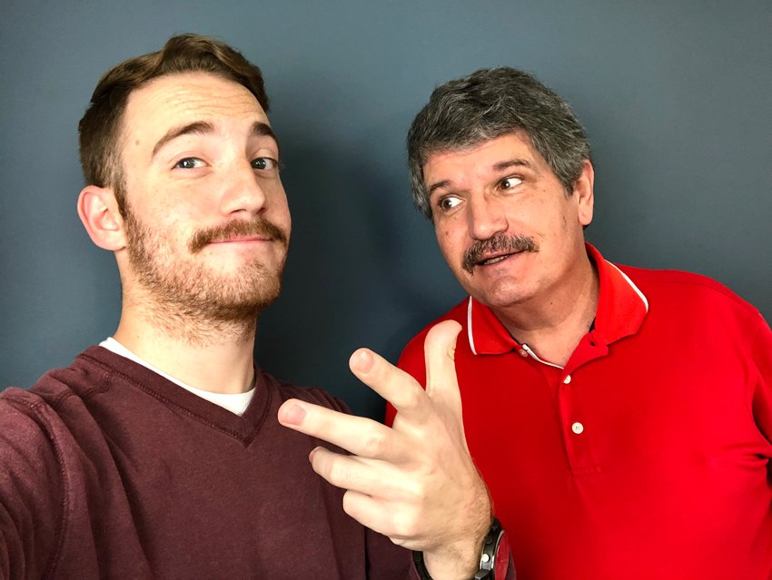"Sealy News sports reporter Cole McNanna, left, and managing editor Joe Southern donned the mustache look for the month of ""Movember"" while raising money for prostate cancer, testicular cancer, mental health and suicide awareness. At the end of the month, their efforts totaled over $400 to helping men live longer, happier and healthier lives."