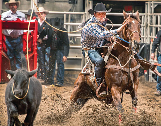 Caleb Smidt represented Bellville at the National Finals of Rodeo in Las Vegas last week and took home fourth in the all-around rankings after a seventh overall finish in the tie-down roping category. It was his fifth consecutive trip to the world championships and sixth overall in his seven-year professional career.