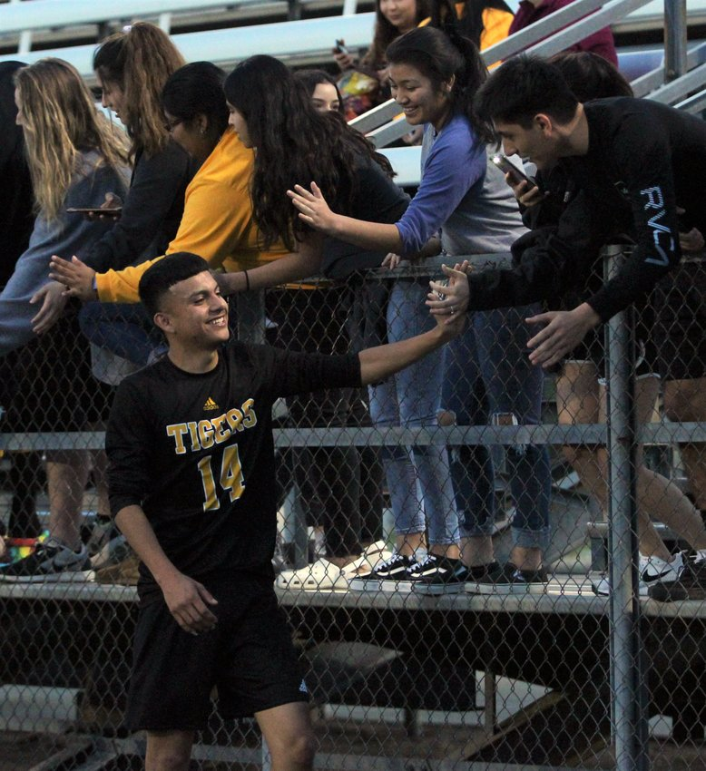 Jose Luis Arriaga served as the hero of April 2's Region 3 Area Championship, supplying a header with only 2:23 showing on the clock to advance the Tigers to the third round for the first time in over a decade.