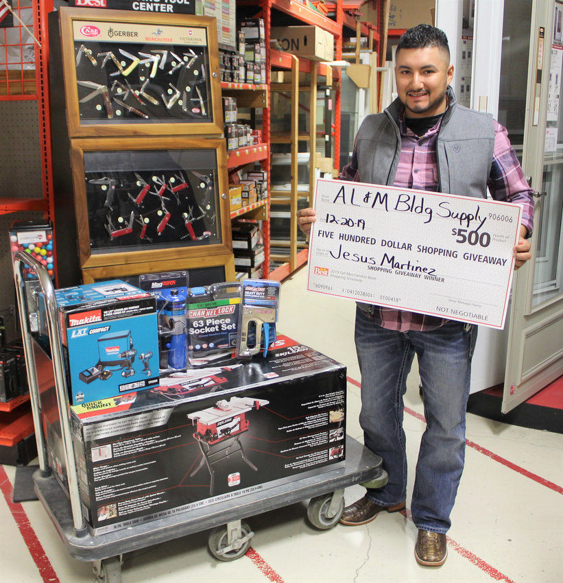 Jesus Martinez was one of two lucky winners from Sealy and gladly accepted his winnings ahead of the holidays.