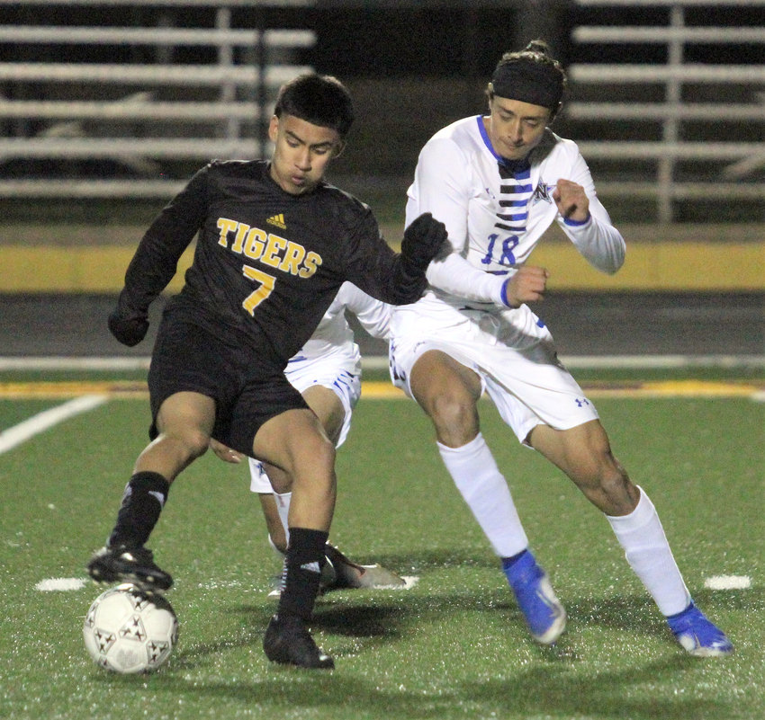 Erick Balderas returns to the pitch to once again figure into the Sealy Tigers' offensive attack that helped down Navasota 7-0 in the second scrimmage of the preseason Dec. 17 at T.J. Mills Stadium.