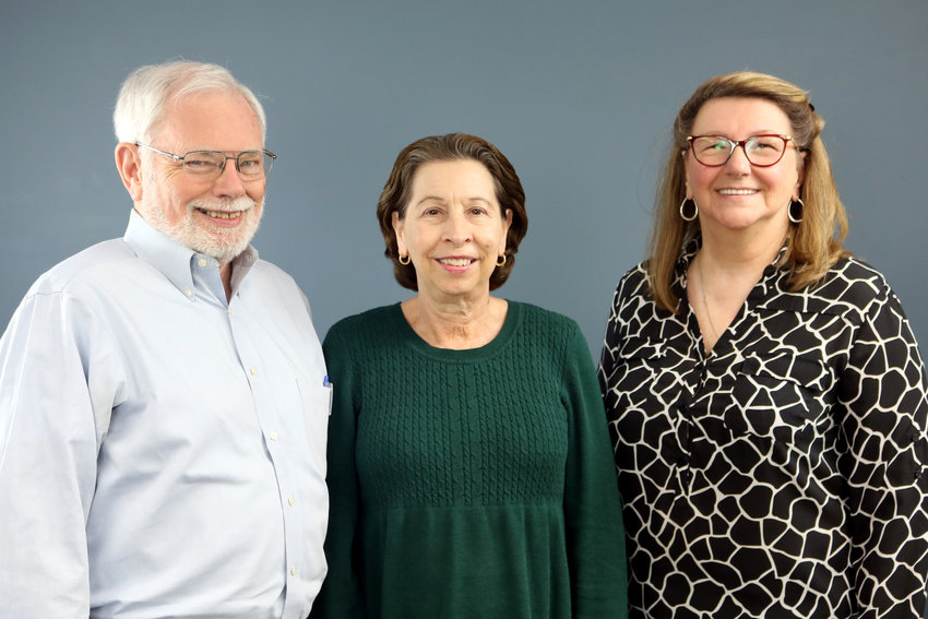 The Sealy News has recently announced some staffing changes. Pictured from the left are interim general manager Larry Jackson, sales representative Vicky Covert, and office manager/inside sales representative Joanne Lisowski.