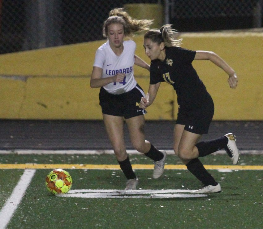 Dania Picasso will look to continue to lead the Lady Tigers as their district portion of the schedule arrived earlier this week in Rice. As one of the returners from last year's playoff run, she will play a crucial role moving forward. Pictured is Picasso going to the goal against La Grange in a non-district match on Jan. 17 at T.J. Mills Stadium.
