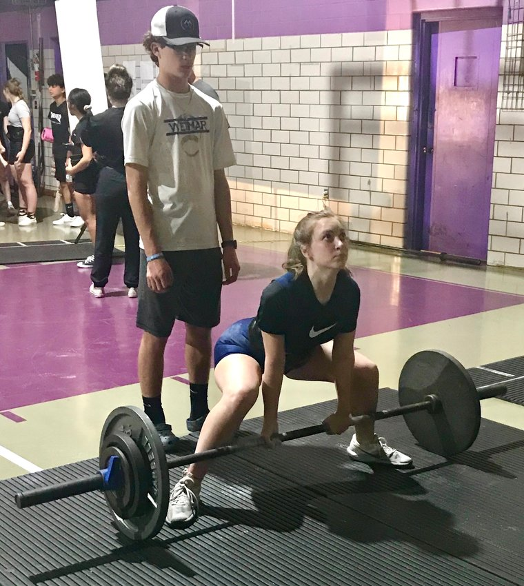 Mackenzie Kollman rounded her total up to 495 pounds last week with her 195-pound deadlift to close out her second meet of the season at the Edna Invitational, Jan. 25.