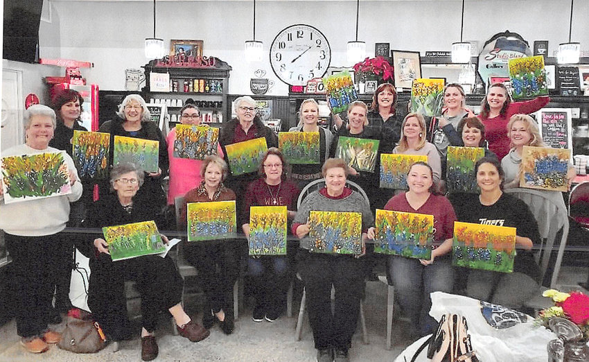 Pictured from the left are (seated) Betty Jo Mazac, Cheryl Losack, Cathy Ondruch, Doris Sodolak, Melissa Kloss, Sharon Krenek, (standing) Cindy Gessner, Theresa Young, Filothea Eschenburg, Victoria Aguirre, Margie Cieslewitz, Laura Eschenburg, Sharlene Havel, Connie Reichardt, Kelley Smith, Danielle Eschenburg, Patty Wright, Amanda Cendalski, and instructor Annette Smith.
