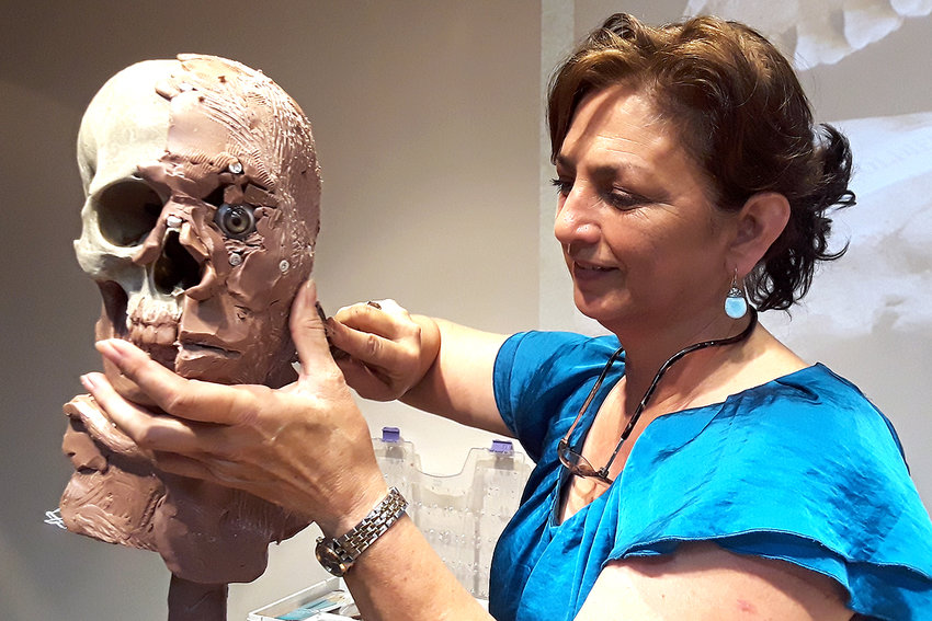 Forensic sculptor Amanda Danning of Columbus will present a program about her work on six skulls recovered from the San Jacinto battleground on Feb. 27 at the San Felipe de Austin State Historic Site.