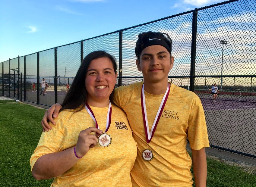 Macey Feland and Norman Juarez added to their medal collection last week, earning first place in the consolation bracket of the mixed doubles competition at the Waller Bulldog Invitational on Feb. 28.