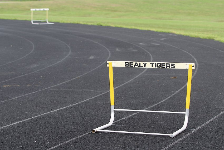 This hurdle at Sealy High School will likely remain unused for a little while longer after the UIL extended its suspension of all sanctioned events until May 4 last Thursday afternoon.