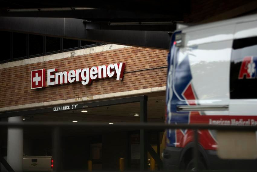 The emergency drop-off at St. David's Medical Center in Austin.