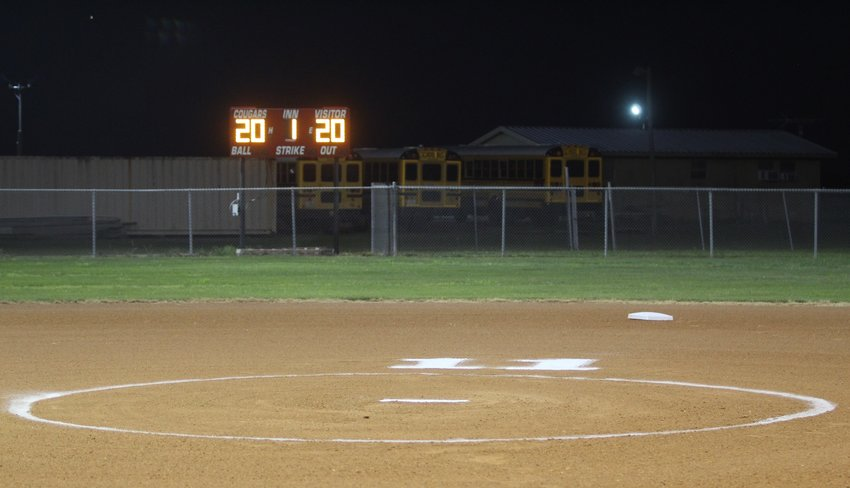 The Brazos High School softball diamond was lined and ready to go on April 14, what should have been the Cougarettes senior night game against the Louise Hornets. Instead, Brazos' lone senior, Allie Gonzalez' No. 11 was lined behind the pitcher's circle and the scoreboard was lit up to honor the Class of 2020 who missed out on their senior nights.