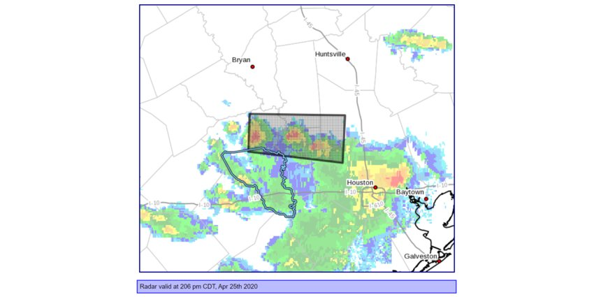 A Saturday special weather statement announced a strong cluster of thunderstorms approaching Austin County.