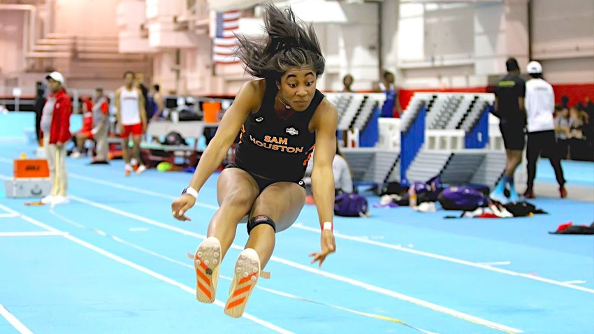 Tristyn Allen made the Southland Conference all four years she jumped for the Sam Houston State Bearkats after making the state championships the final three years of her high school career at Sealy. Allen planned on jumping for Northern Illinois University this outdoor season but coronavirus shut that down and put her athletic future in doubt.