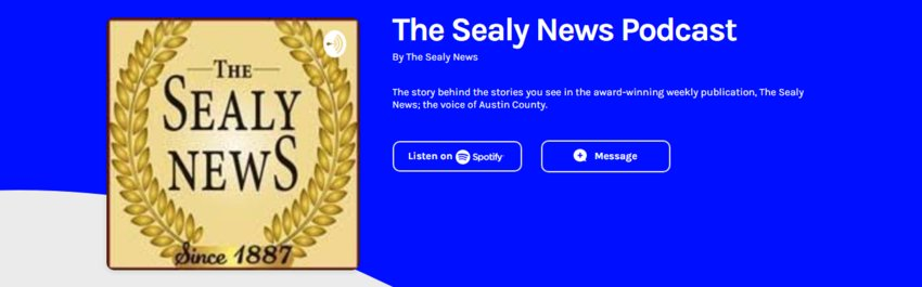 You can find The Sealy News Podcast on Anchor FM at Anchor.FM/The-Sealy-News as well as on Spotify by searching The Sealy News Podcast.