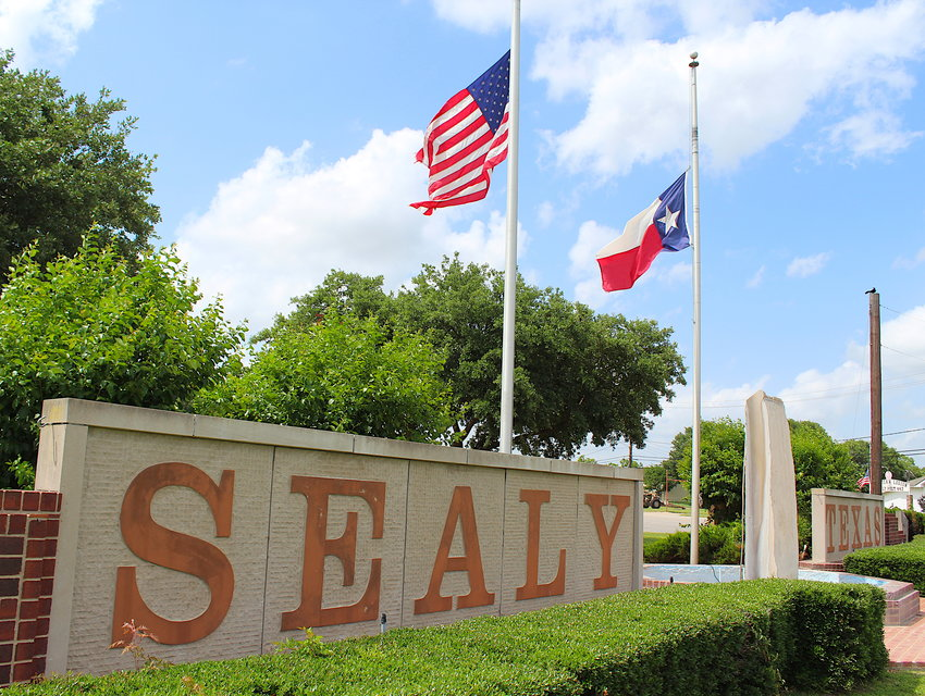 Although the ceremonies looked a little different in the new coronavirus pandemic, flags were flown at half-staff all weekend around Sealy to honor those fallen in the line of duty preserving America's freedom.