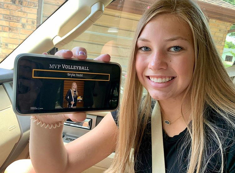 Brylie Nedd was announced as the volleyball team's most valuable player for the 2019 season although that announcement was a little different than the traditional banquet that is usually held. Instead, a video was released on the Sealy ISD YouTube page bestowing all of the athletic awards on their winners.