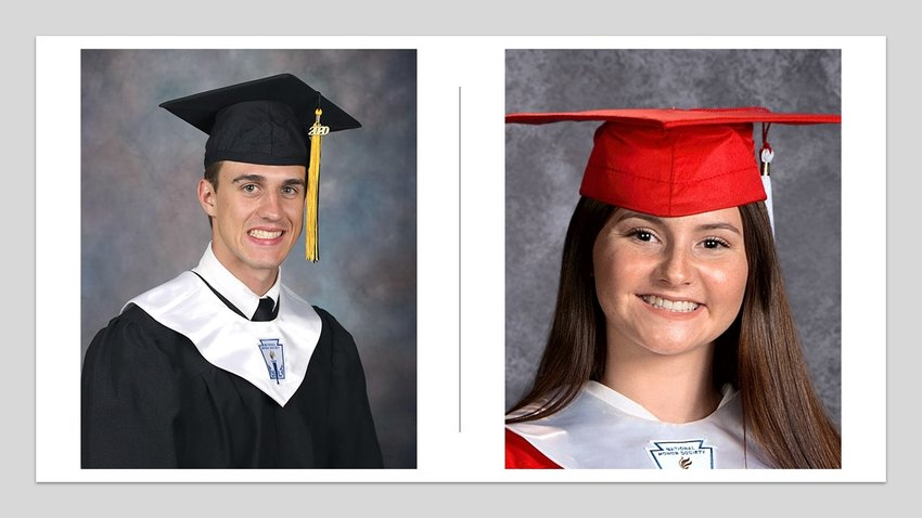 John Owen and Gabrielle Eskew recently earned scholarships from the Austin County Livestock Association. Owen, from Sealy High School, will be attending Texas Tech and Eskew, from Bellville High School will be going to Blinn College next year.