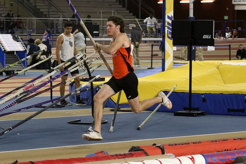 Sam Houston State junior pole vaulter Clayton Fritsch earned his third consecutive All-American honor following a shortened indoor season. Fritsch, a Sealy High alum, was set to compete at the indoor national championships before the new coronavirus pandemic forced organizers to cancel.