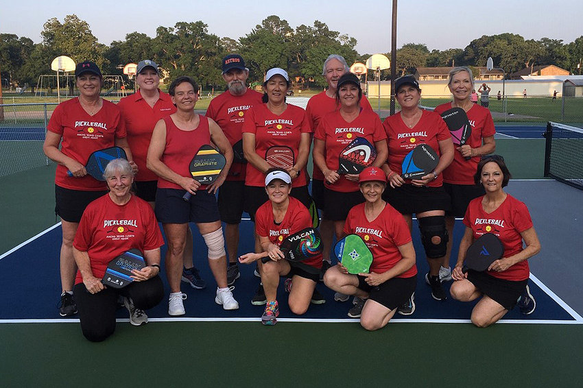 Bellville Pickleball Club members are ready to inaugurate the new pickleball courts in Bellville.