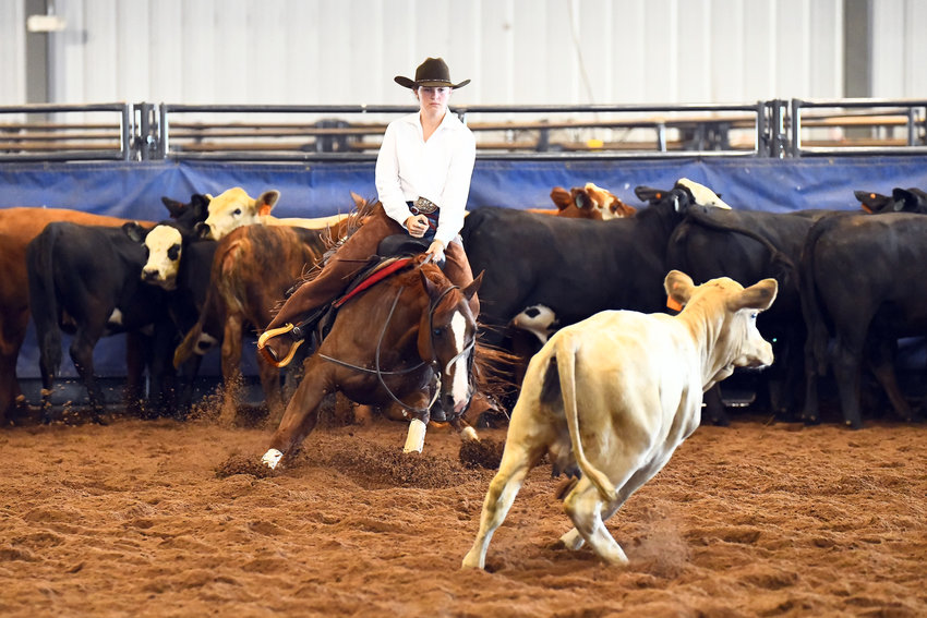 Samantha Grace Perko finished fourth at the Texas High School Rodeo Association's girls cutting championship in June and punched her ticket to a second national competition.