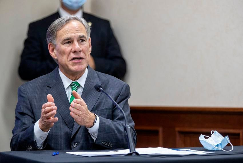 Gov. Greg Abbott gives an update on Texas hospital bed capacity and the state's strategy for fighting COVID-19 during a press conference at Texas Department of Public Safety in Austin on Tuesday, June 16, 2020.