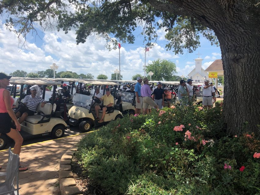 About 74 golfers converged on Legendary Oaks Golf Course in Hempstead for last year's T.J. Mills/Ricky Seals Memorial Golf Tournament in Hempstead.