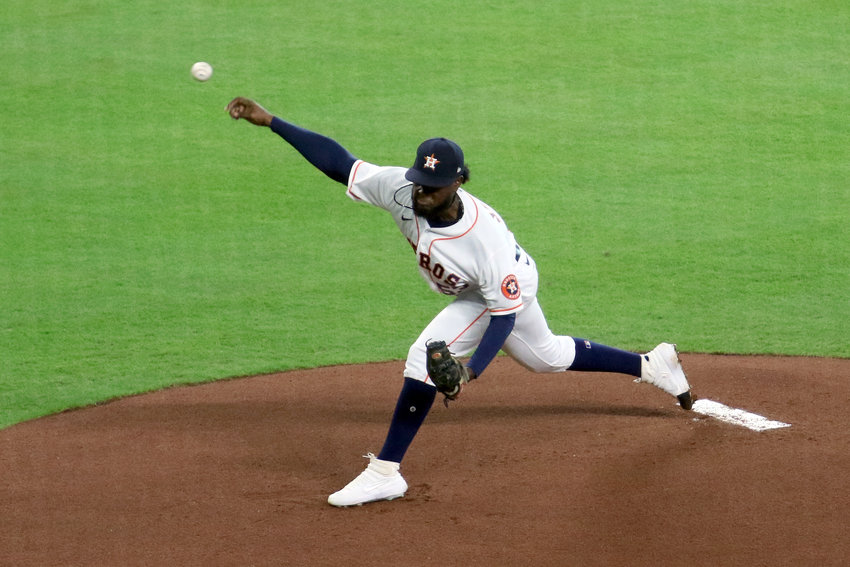 Christian Javier became the first Astros pitcher to strike out the first three batters he faced in his first Major League start since Frank DiPino did so on Sept. 7, 1982. Javier finished with eight strikeouts Wednesday night at Minute Maid Park.