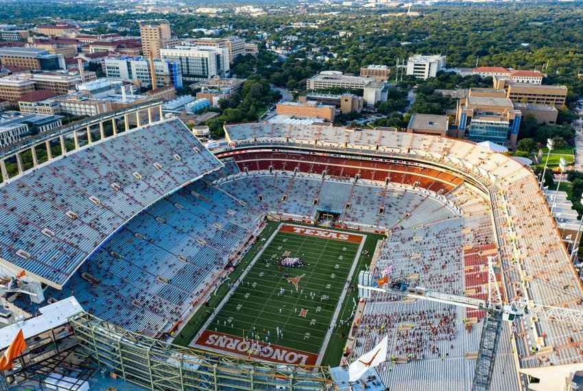 Darrell K Royal-Texas Memorial Stadium roughly 20 minutes before kickoff on Sept. 12, 2020.