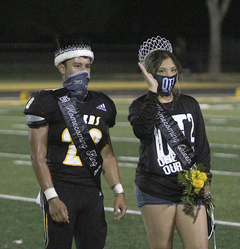 Stevie Alvarez and Daniela Acosta were named Sealy High School's Homecoming King and Queen Friday at an in-school celebration and were honored at halftime of Friday night's game against Bay City.