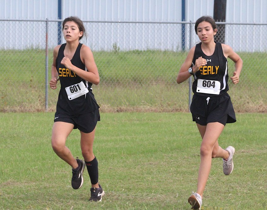 Sealy freshmen Allyson Guerrero (601) and Bailey Lopez (604) were part of the efforts that helped the Lady Tigers sweep the top four spots at Thursday morning's tri-meet against Brazos and Needville at Sealy High School. It was the penultimate meet before the District 24 Championship on Oct. 28 in Brookshire.