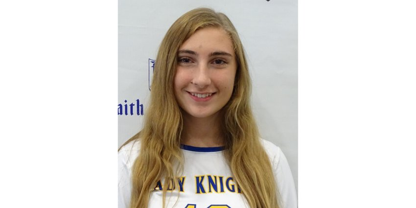Faith Academy freshman Addi Riley earned player of the week honors for her three-kill performance to help the Lady Knights record their highest hitting percentage in a district win over Conroe Lifestyles.