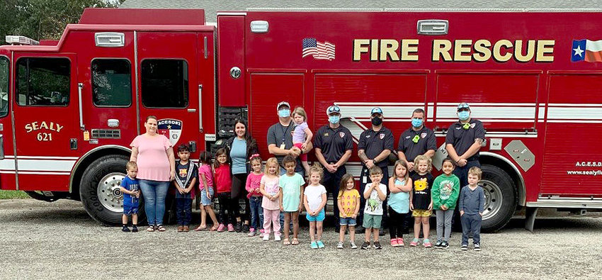 The Sealy Fire Department recently made a Fire Prevention Week visit to the children at Small World Day Care.