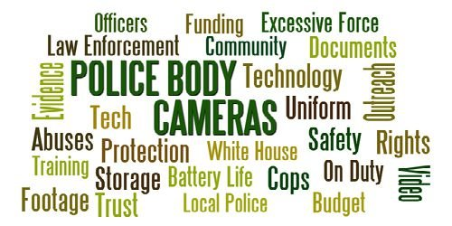 police body camera word cloud