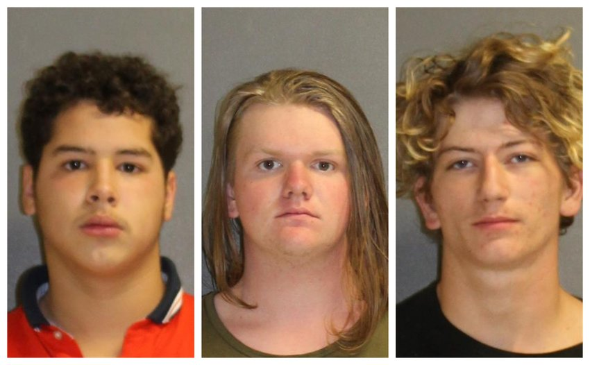 Gabriel Eduardo Couso, Joshua Scott Lacey, Malachi Nevaeh Shumate, all 19 years of age