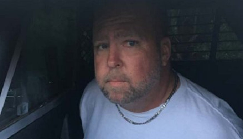 Sean Farrelly during his arrest in 2019